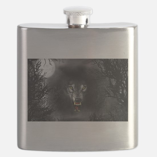 Funny Wolf Flask