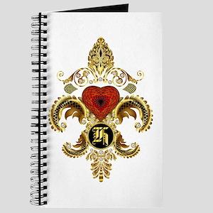 Monogram H Fleur-De-Lis Bf Journal