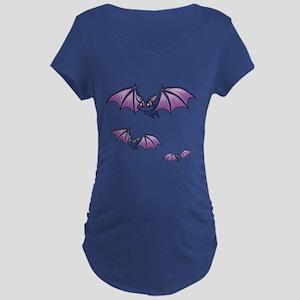 Flying Bat Design Dark Maternity T-Shirt