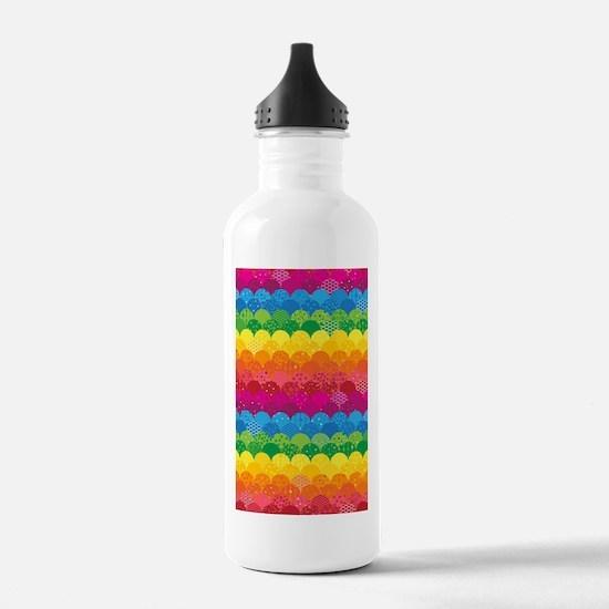 Waves of Rainbows Water Bottle