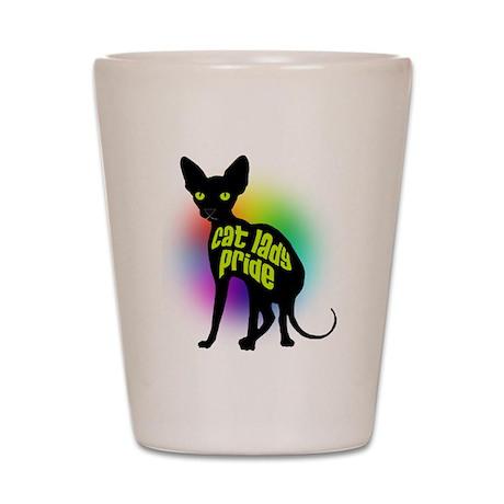 Cat Lady Pride Shot Glass