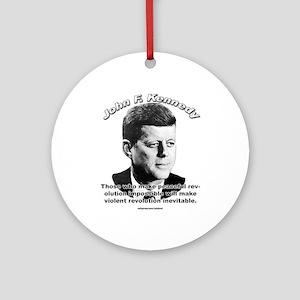 John F. Kennedy 01 Ornament (Round)