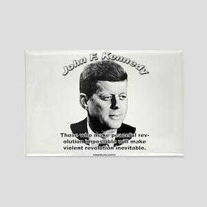 John F. Kennedy 01 Rectangle Magnet