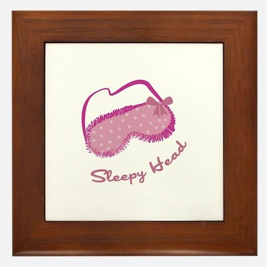 Sleepy Head Framed Tile