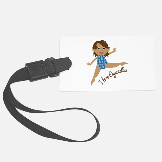I Love Gymnastics Luggage Tag