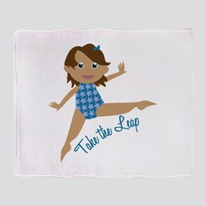 Take The Leap Throw Blanket