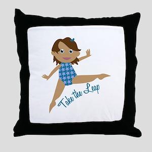 Take The Leap Throw Pillow