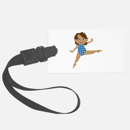Gymnast Luggage Tag