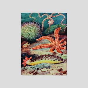 Sea Creatures Starfish 5'x7'area Rug