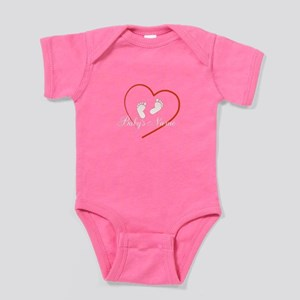 Babys Name, Footprings and Heart Design Baby Bodys