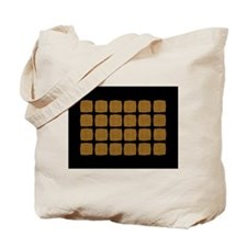 Yellow Black Checked Tote Bag