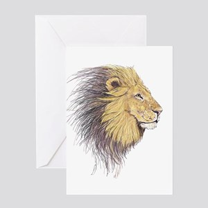 Lions Head Greeting Cards