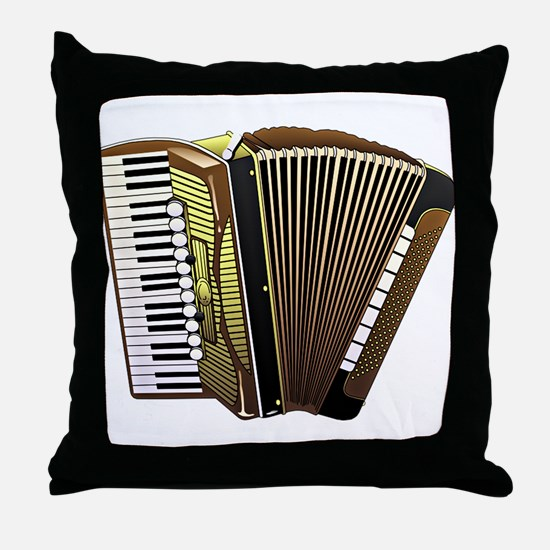 Cute Accordion player Throw Pillow