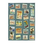 Vintage Florida Seashore Postcards 5'x7'area Rug
