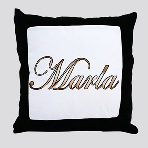 Gold Marla Throw Pillow