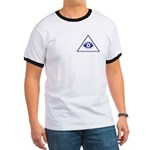 The Masonic All Seeing Eye Ringer T