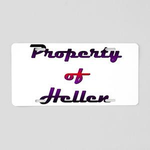 Property Of Hellen Female Aluminum License Plate