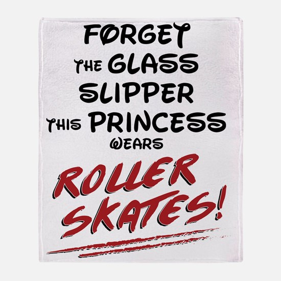 Roller Princess Throw Blanket