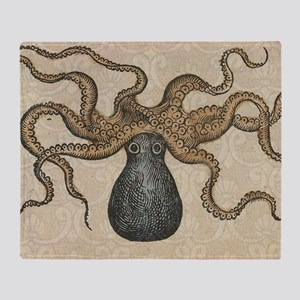 Octopus Kraken vintage scientific illustration Thr