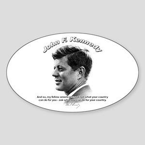 John F. Kennedy 03 Oval Sticker