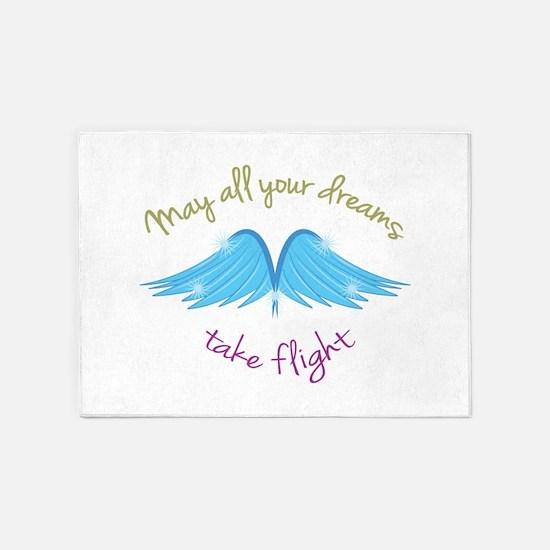 Dreams Take Flight 5'x7'Area Rug