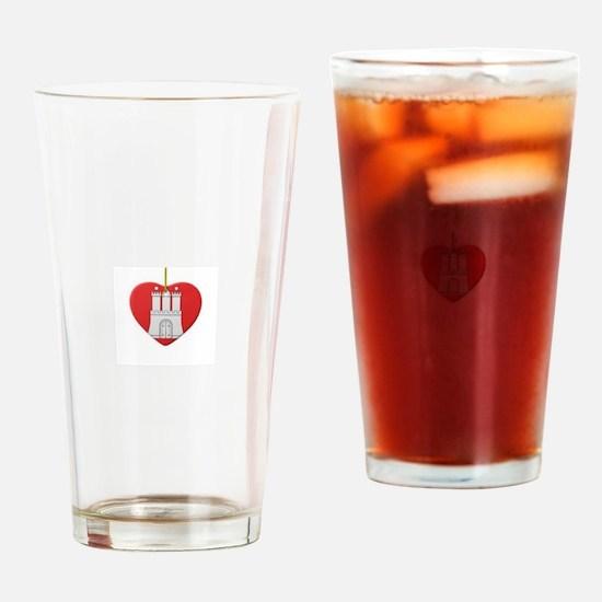Cool Hamburg Drinking Glass