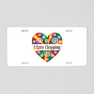 I Love Clogging Aluminum License Plate
