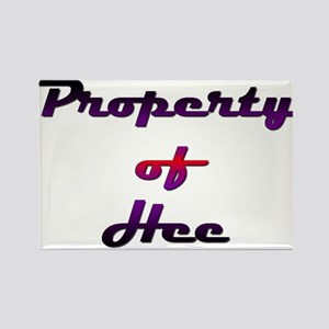 Property Of Hee Female Rectangle Magnet