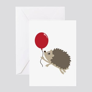 Balloon & Porcupine Greeting Cards