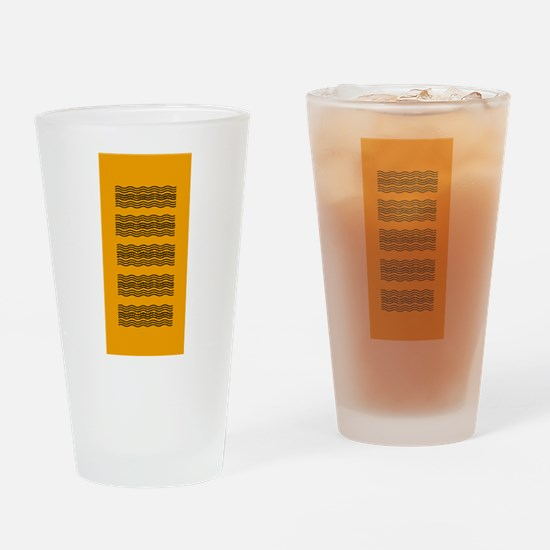 Bright Orange Waves Drinking Glass