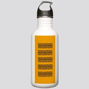 Bright Orange Waves Stainless Water Bottle 1.0L