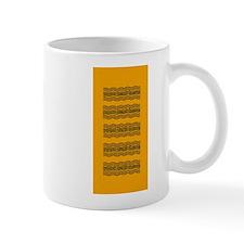 Bright Orange Waves Mug