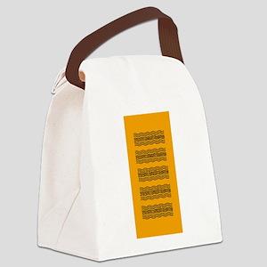 Bright Orange Waves Canvas Lunch Bag