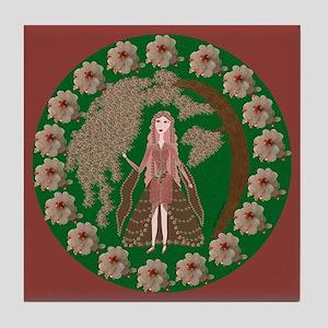 Rose Quartz Faerie Tile Coaster