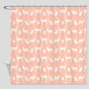 Deer On Pink Shower Curtain