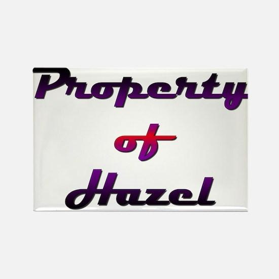 Property Of Hazel Female Rectangle Magnet