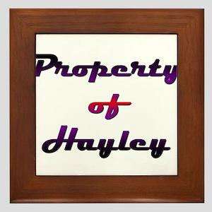 Property Of Hayley Female Framed Tile