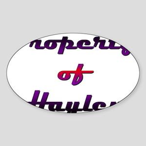 Property Of Hayley Female Sticker (Oval)