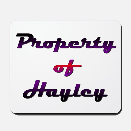 Property Of Hayley Female Mousepad