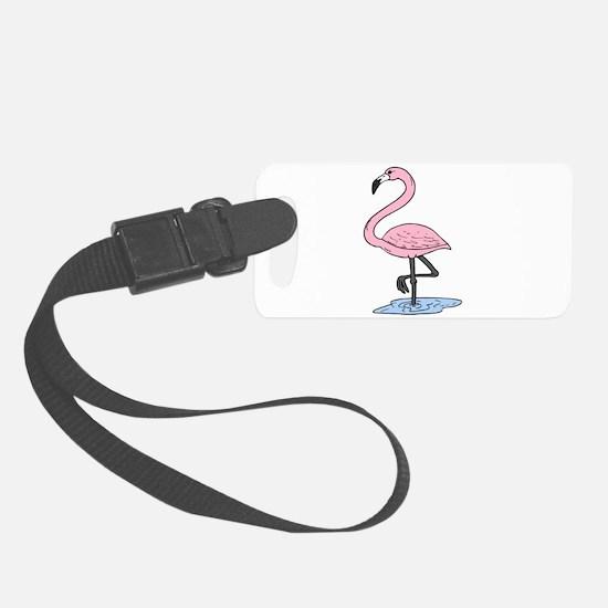 pink flamingo Luggage Tag