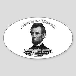 Abraham Lincoln 01 Oval Sticker