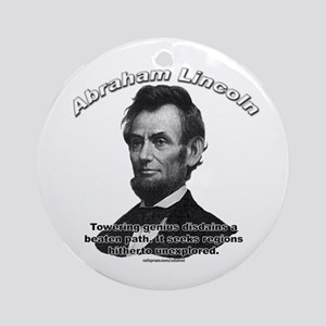 Abraham Lincoln 01 Ornament (Round)