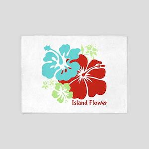 Island Flower 5'x7'Area Rug