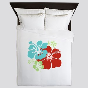 Hawaiian Hibiscus Queen Duvet
