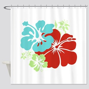 Hawaiian Hibiscus Shower Curtain