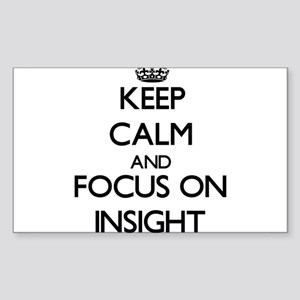 Keep Calm and focus on Insight Sticker
