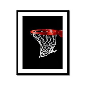 Basketball Hoop Framed Panel Print