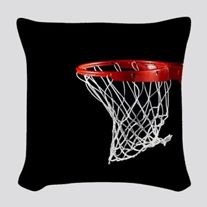 Basketball Hoop Woven Throw Pillow