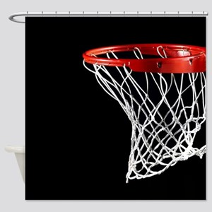 Basketball Hoop Shower Curtain