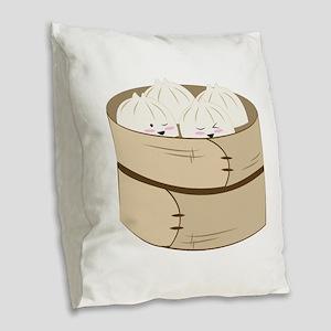Dumplings Burlap Throw Pillow
